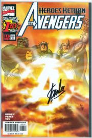 Avengers #1 Sunburst Variant Dynamic Forces Signed Stan Lee DF COA Ltd 25 Marvel comic book
